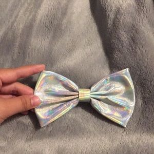 Holographic hair bow